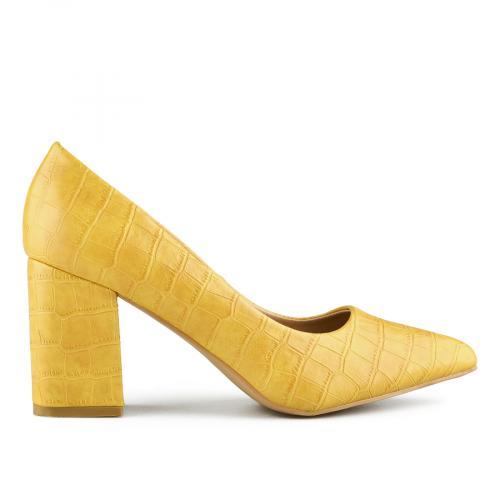 дамски елегантни обувки жълти 0141055