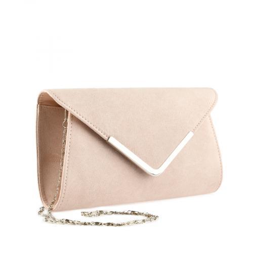 дамска елегантна чанта бежова  0140902
