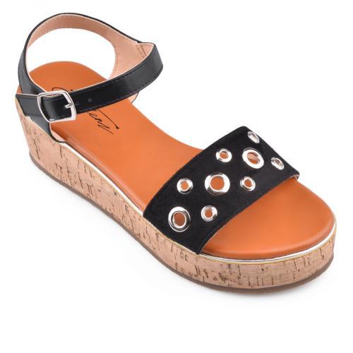 дамски ежедневни сандали черни 0134566
