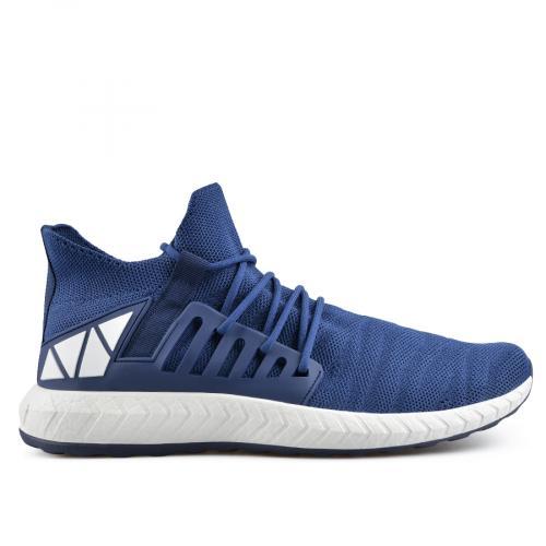 мъжки ежедневни обувки сини 0136948