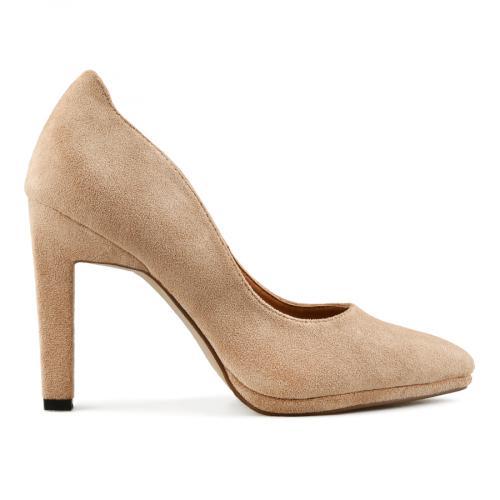 дамски елегантни обувки бежови  0141681