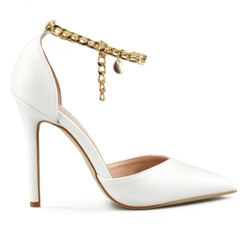 дамски елегантни сандали бели 0143238