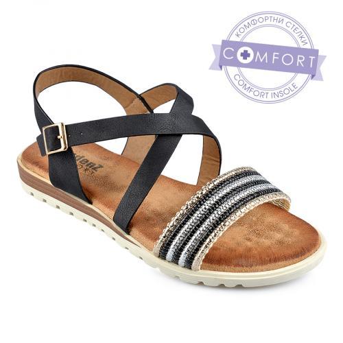 дамски ежедневни сандали черни 0137881