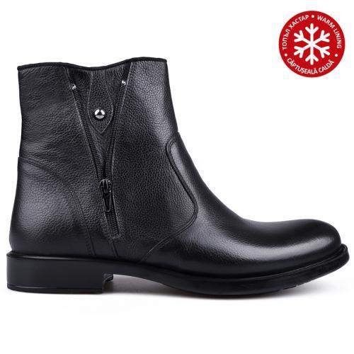 мъжки елегантни боти с топъл хастар черни 0134790