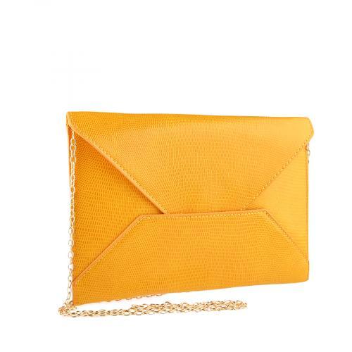 дамска елегантна чанта жълта 0140912