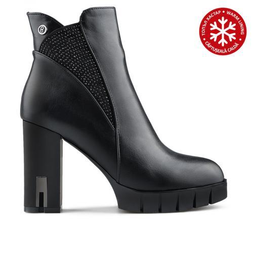дамски елегантни боти черни с топъл хастар 0138738