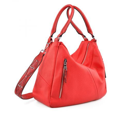 дамска ежедневна чанта червена 0137946