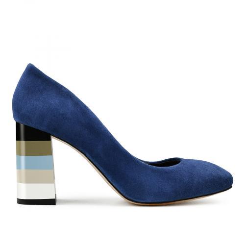 дамски елегантни обувки сини 0141130