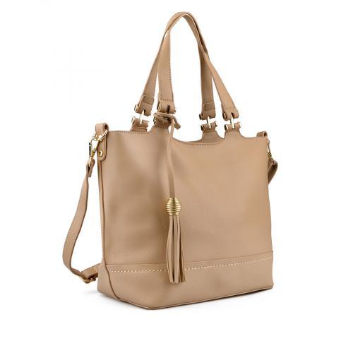 дамска ежедневна чанта бежова 0136350