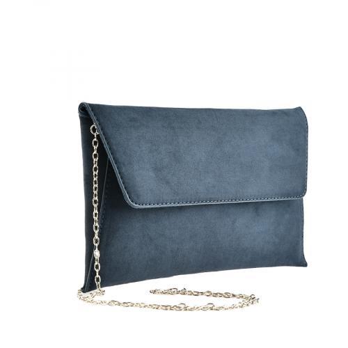 дамска елегантна чанта синя 0139874
