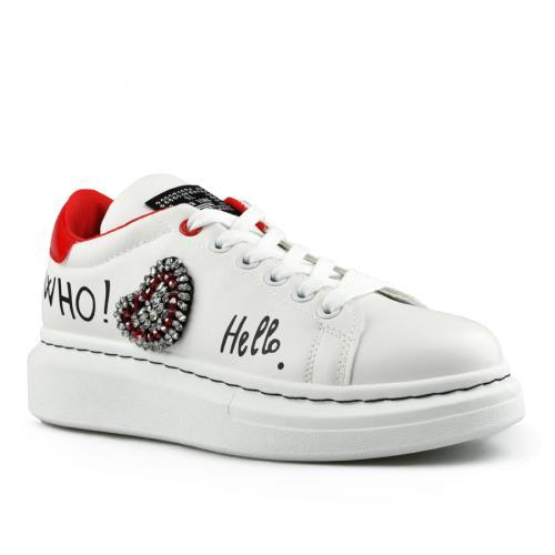 дамски ежедневни обувки бели 0142757