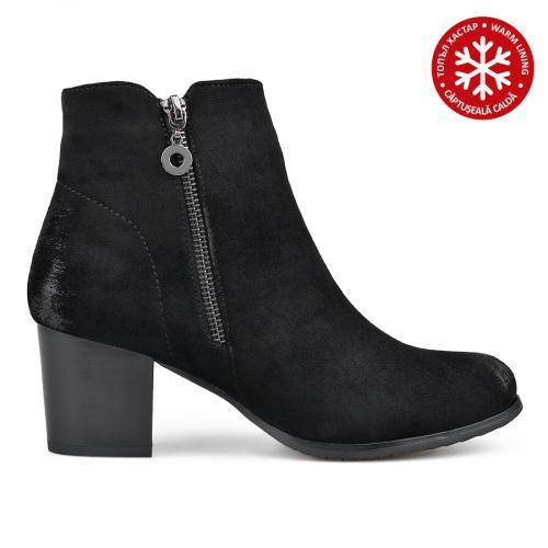 дамски елегантни боти черни с топъл хастар 0135289
