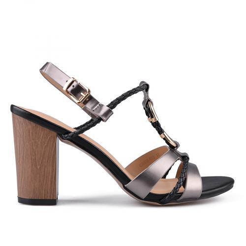 дамски елегантни сандали сребристи 0133748