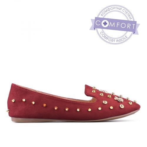 дамски ежедневни обувки червени 0135079