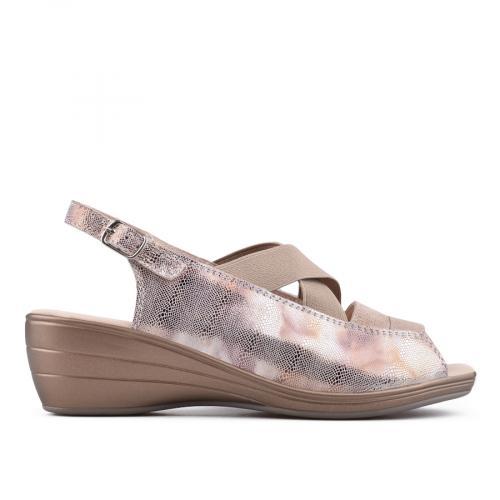 дамски ежедневни сандали златисти 0134156