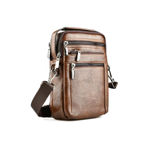 мъжка ежедневна чанта кафява 0141604