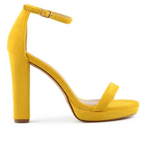 дамски елегантни сандали жълти 0140072