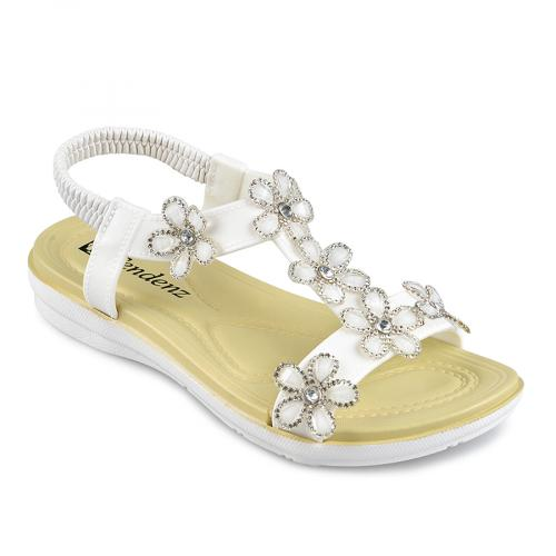 дамски ежедневни сандали бели 0138351