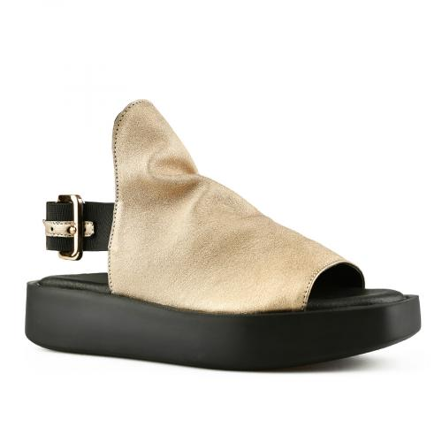 дамски ежедневни сандали златисти 0144502