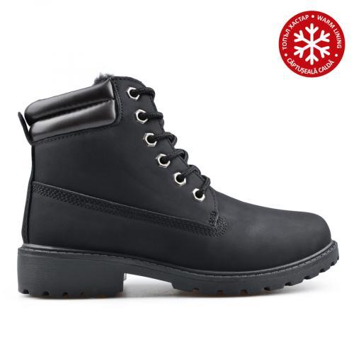 дамски ежедневни боти черни с топъл хастар 0135219