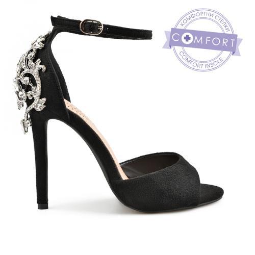 дамски елегантни сандали черни 0137505