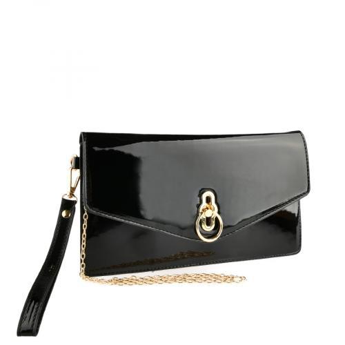 дамска елегантна чанта черна 0140904