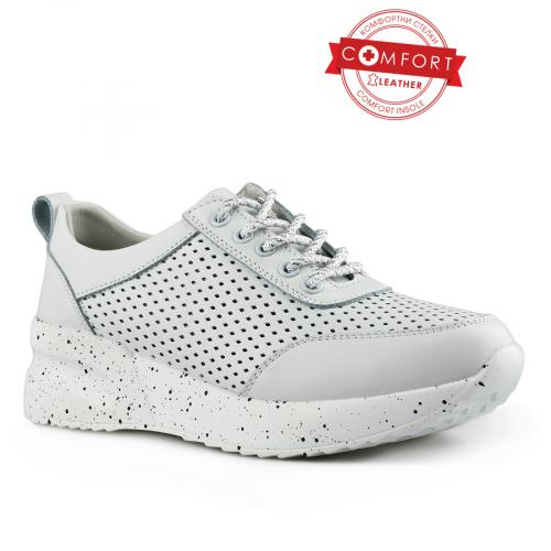 дамски ежедневни обувки бели 0142516