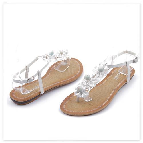 дамски сандали бели 0113482