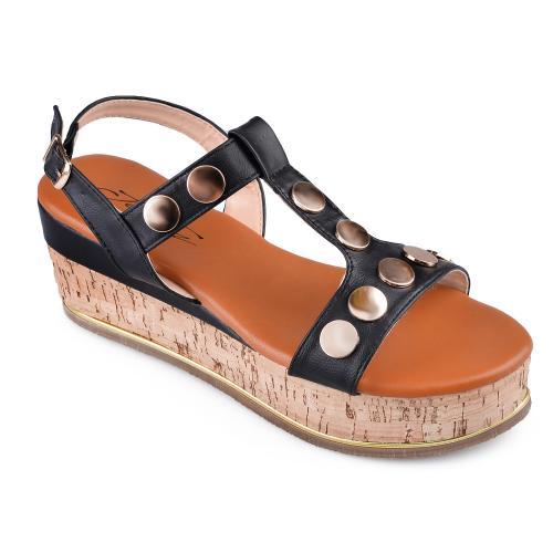 дамски ежедневни сандали черни 0134570