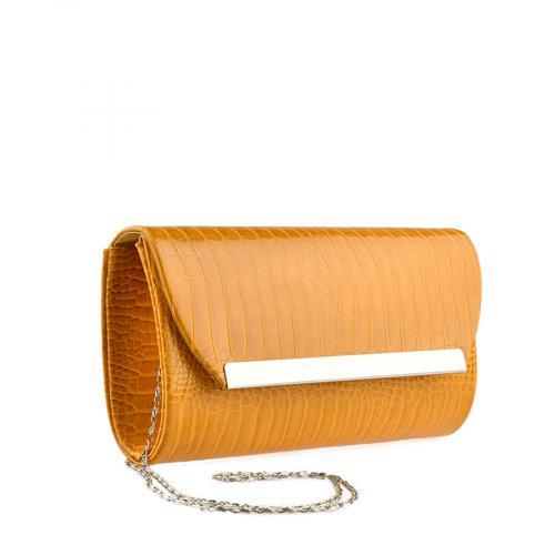дамска елегантна чанта жълта 0139845