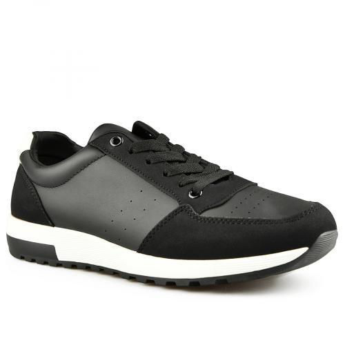 мъжки ежедневни обувки черни 0141989